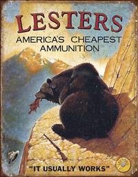 Lesters Ammo Tin SIgn