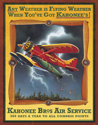 Kahonee Bros. Air Service Tin Sign