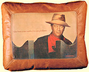 JW Leather Pillow
